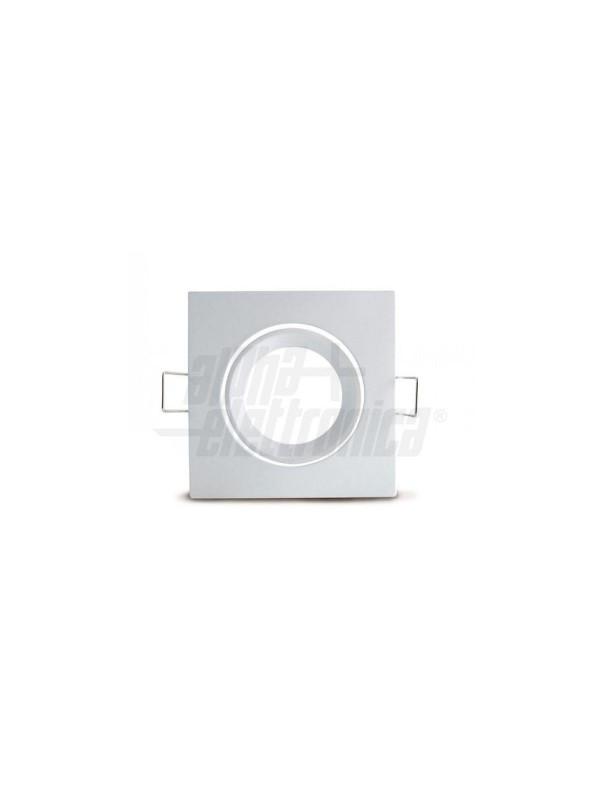 Faretto Quadrato Orientabile Bianco...