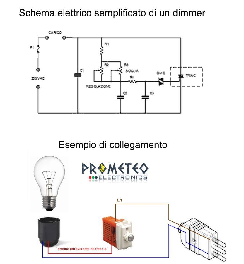 Schema Elettrico Per Wilayah : Cosa è un dimmer e a serve prometeo electronics